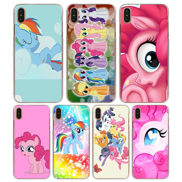 new products deaf5 24e0c US $1.98 38% OFF|My Little Pony Rainbow Pattern Transparent Hard Phone  Cases Cover for Apple iPhone X XS XR XS MAX 6 6s 6Plus 7 8 7 Plus SE 5S-in  ...