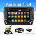 2 два дин Aux gps Quad Core android 4.4 автомобильный dvd плеер ТВ для VW POLO GOLF 5 6 PASSAT CC JETTA TIGUAN TOURAN Skoda Fabia Caddy