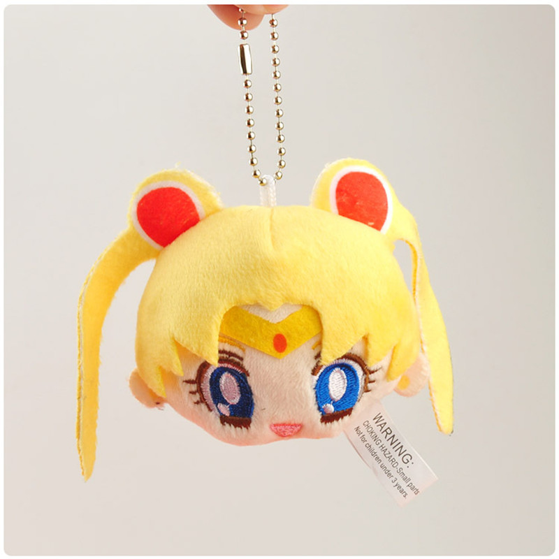 Sailor Moon Plush Toys Cute Anime Cartoon Super Moon Mercury Peluche Dolls Keychain Key Bag Pendant 10pcslot 8-9cm (2)