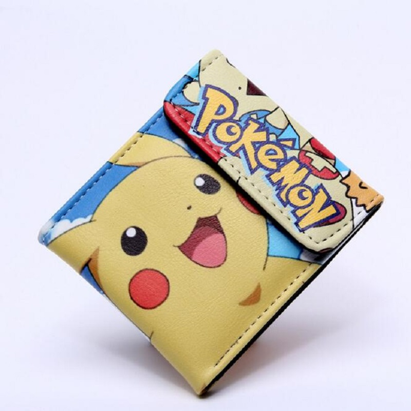 Pocket Monster Pokemon Wallet Teenager Boy Girl Kawaii Pikachu Poke Ball Wallet Naruto Student Dollar Bag Card Holder Purse 12 japan anime pocket monster pokemon pikachu cosplay wallet men women short purse leather pu coin card holder bag