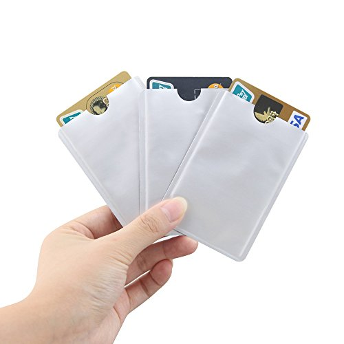 Security & Protection 50 Pcs Rfid Nfc Card Anti Degauss Sleeve Bank Card Credit Card Protect Anti-scan Card Sleeve Anti-magnetic Aluminum Factory Direct Selling Price