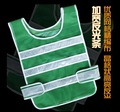 New high quality thicken reflective safety vest for road traffic sanitation construction cycling with adhesive fastener tape