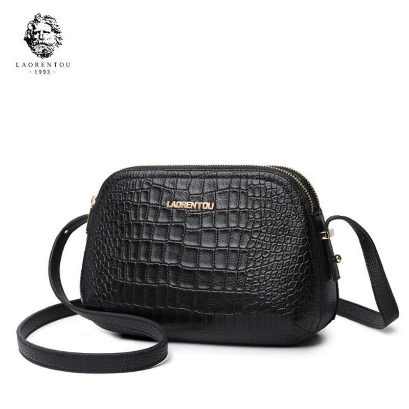 LANRENTOU 2018 New women leather bag fashion luxury Crocodile pattern women leather shoulder bag Handbags & Crossbody bags все цены