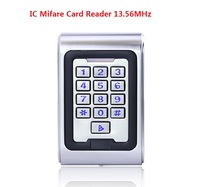 Metal Access Control keypad Waterproof IC Mifare Card Reader include 3pcs RFID Keyfobs Home Automation Security Reader 13.65MHZ