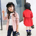 2017 Spring Jackets For Girls Clothes Children Clothing Girls Coats And Jackets Trench Coat Kids Clothes 3 Colors Age 2-14Y
