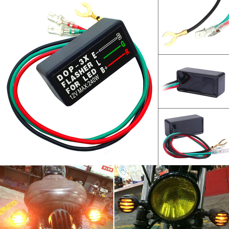 1pc Car Motorcycle Led Flasher Relay 3 Pin 12v Turn Signal