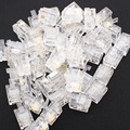 1000pcs RJ11 6P2C Telephone Cable Connector 2 cores RJ-11 Connector for Phone Wire
