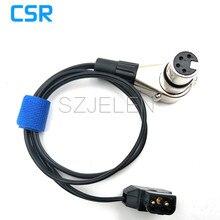 D tap macho a hembra ángulo 4 Pin XLR Cable para adaptador de batería de alimentación 0,6 m