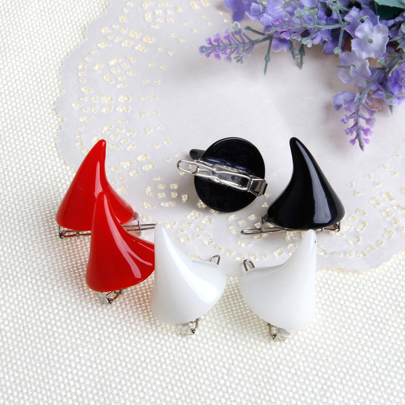 2Pcs Women Chic Halloween Stereo Devil Horns Ears Clip Hairpin Hair Barrettes New 2018