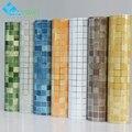 PVC mosaico papel de parede do banheiro adesivos de parede cozinha adesivos da telha de plástico à prova d' água de vinil auto adesivo de parede papers home decor