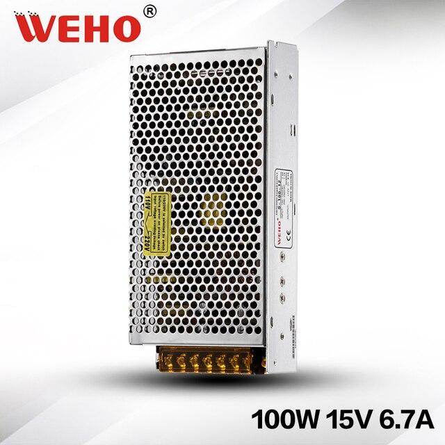 S 100 15) pequeño marco abierto 15 V DC 100 W fuente de alimentación ...