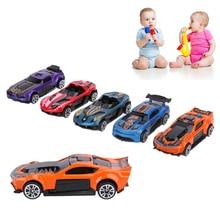 5 copë / grupe Modelet e makinave garuese Fëmijët Lodra për fëmijë Lodra për fëmijë Lodra për fëmijë Modeli i makinave Vendos makinën me katër rrota