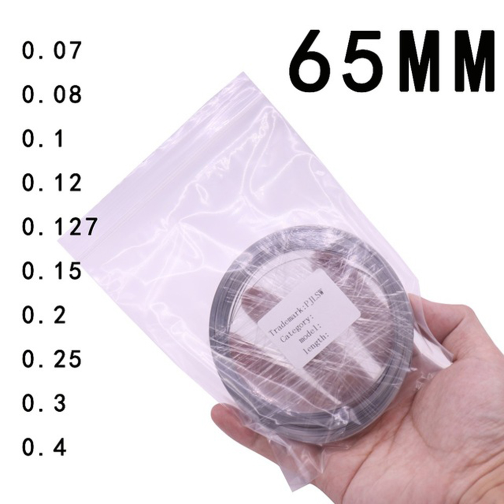 Width 65MM Battery-specific nickel sheet Thickness optional Customizable Length 10M 18650 For Spot Welder Machine wholesale 504260 3 7v lithium polymer battery length 60 width 42 thickness 5mm