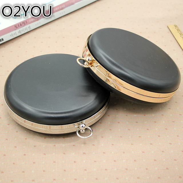 18 CM Round Shape With Black Plastic Box Clutch Obag Handle Maleta ...