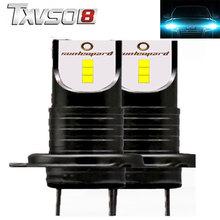 купить TXVSO8 2Pcs h7 LED 6000K car headlight bulbs CSP Chips- 12V 30000LM 55W Bulb Mini car light Lamp automotivo luces led para auto дешево
