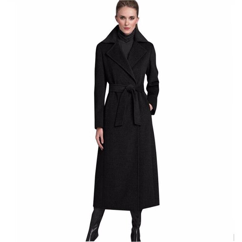 2016 New Design Winter coat women Grey/Black Wool Coat ...