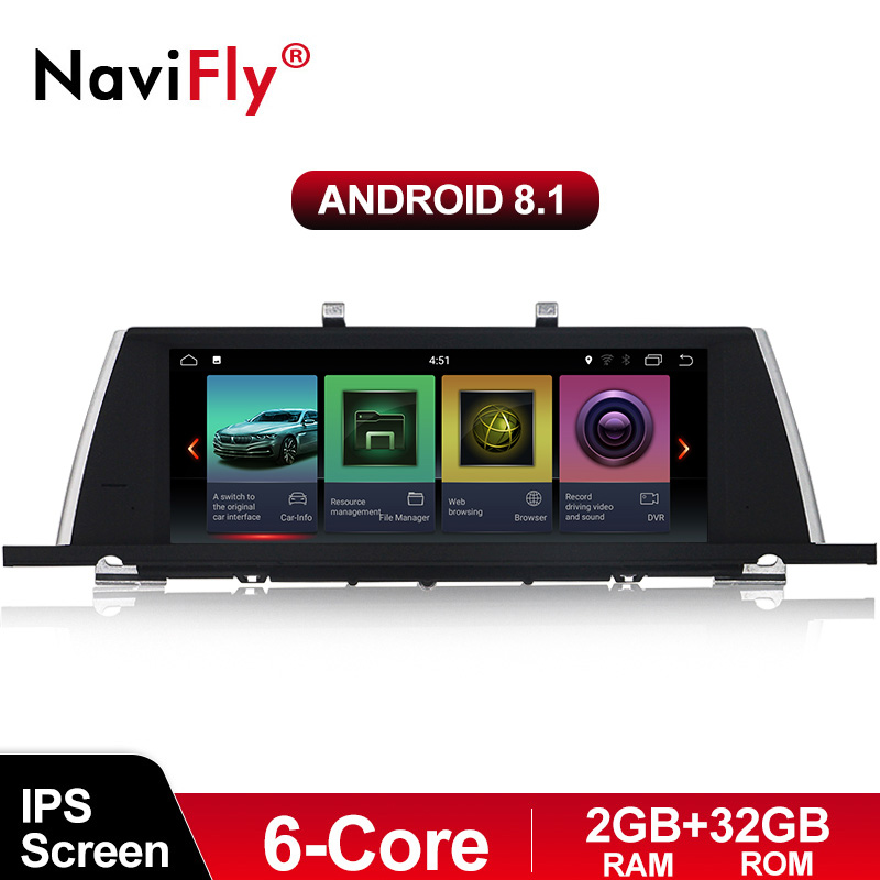 NaviFly Car Audio video player for BMW 5 Series F07 GT with Android8.1 IPS screen 6Core processor 2G RAM+32G ROM free shipping