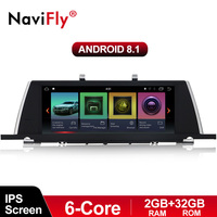 NaviFly Car Audio video player for BMW 5 Series F07 GT with Android9.0 IPS screen 6Core processor 2G RAM+32G ROM free shipping