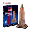 Medium Size Cubicfun 3D Paper Puzzle Empire State Building United States C704h 39pcs16.5*12*38.5CM