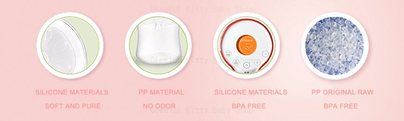 USB Rechargeable Electric Breast Pump with Large and Powerful Suction and Automatic Massager 8