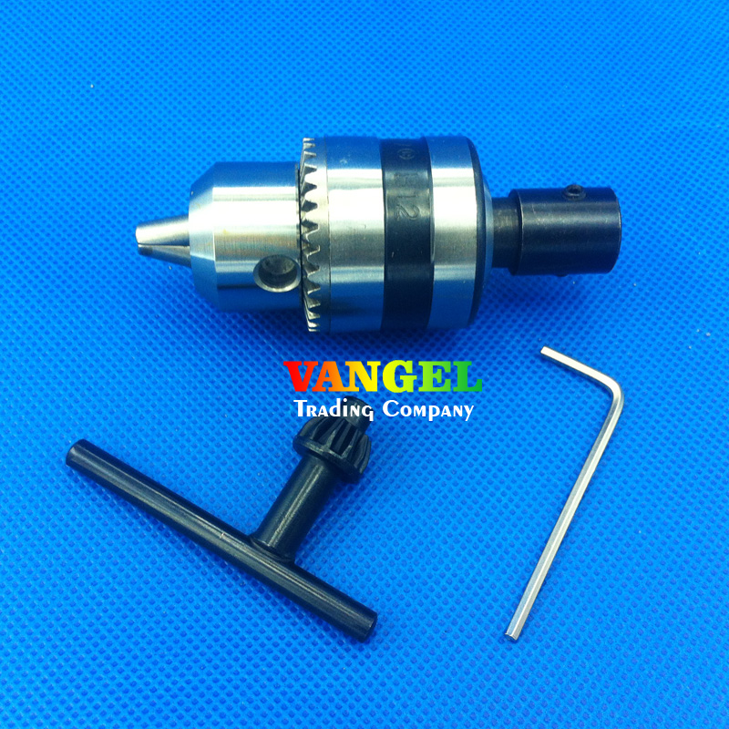 FitSain--5mm-B12 mini drill chuck 1.5-10mm B12 Used for motor shaft 5mm for electric hand drill machine tools pcb drill press fitsain ball bearing 775 motor 24v 7000rpm mini pcb hand drill press nail b10 drill chuck 0 6 6mm electric drill