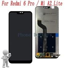 5.84 Xiao mi mi A2 Lite M1805D1SG Tam LCD Ekran + dokunmatik ekranlı sayısallaştırıcı grup için Xiao mi Kırmızı mi 6 Pro m1805D1SE