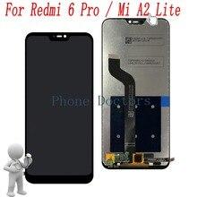 شاشة عرض LCD كاملة 5.84 بوصة لهاتف شاومي Mi A2 Lite M1805D1SG + مجموعة محول رقمي لشاشة اللمس لهاتف شاومي Redmi 6 Pro M1805D1SE