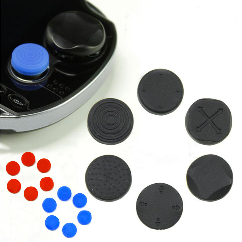 6 In 1 Silicone Thumbstick Grip Cap Joystick Analog Protective Cover Case For Sony PlayStation Psvita PS Vita PSV 1000/2000 Slim