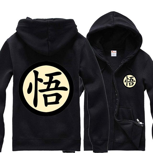 0727bb0fa24e Hoodies Casual Mens Anime Dragon Ball Z Son Goku Velo Moletom Com Capuz  Camisa Completo Manga Quente Tops Primavera Outono casaco