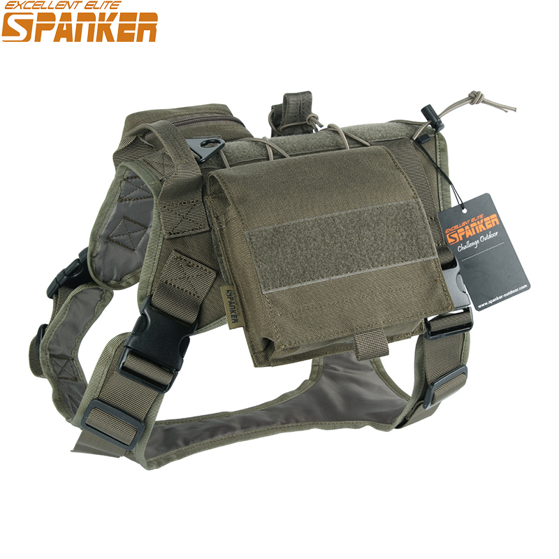 Tactical Battle Dog Clothes Suit Military Outdoor Training Molle Vest Harness Pets Hunting Accessories