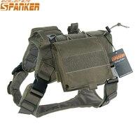 Excelente elite spanker tático batalha roupas do cão terno militar treinamento ao ar livre molle colete arnês animais de estimação caça acessórios|hunting dog harness -