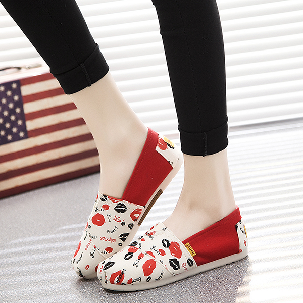Women Flat shoes Canvas Casual espadrilles Women canvas shoes girl loafers Soft Summer Slip on Flats shoes size 35-40 1h37