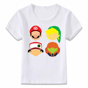 Kids T-Shirt Mario-Ash Girls Boys And Link for Toddler Tee Oal186 Samus