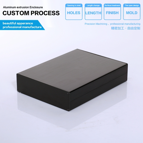 YGS-011 114-33-150 mm (W-H-L) PCB aluminum housing aluminum injection mould instrument metal enclosures 215 52 263 mm w h l aluminum extruded enclosures housing project box case