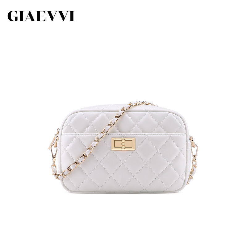 GIAEVVI Women Small Leather Handbag Designer Flap Messenger Bags Ladies Crossbody for Girls Shoulder Bag Diamond Clutch Bags цена