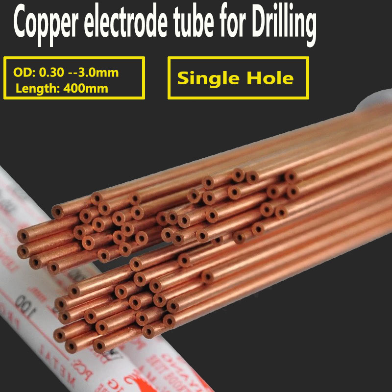 Drilling Machine Parts Copper Electrode Tube One Hole Diameter 0.3mm to 3.0mm *400mm  for EDM Drilling Machine on AliExpress - 11.11_Double 11_Singles' Day 1