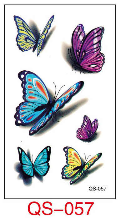 Waterproof Temporary Tattoo Stickers color butterfly fake Tatto Geometric animal Flash Tatoo Hand Back Foot for Girl Women Men