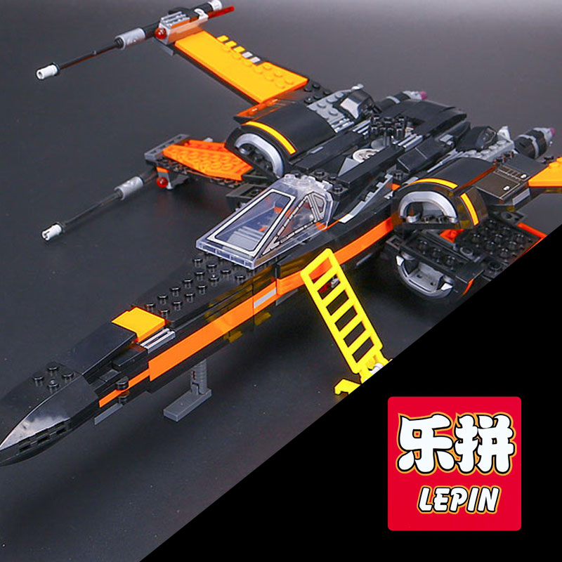 2017 LEPIN 05004 Star First Wars Order Poe's X Toys wing Fighter Assembled Building Block Compatible 75102 Educational DIY gift lepin 05003 star wars first order transporter building block 845pcs diy educational toys for children compatible legoe