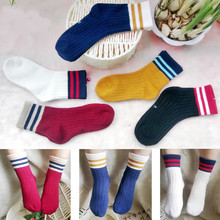 Funny Cute Korean Boys Girls Cotton Casual Novelty Sweet Warm Kids Socks Striped Style Christmas Socks For baby Funny Sock цена
