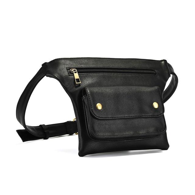 Casual Waist Pack Women Pu Leather Fanny Packs Ladies Luxury Brand Multi-Function Waist Bags Female Money Phone Wallet Belt Bag