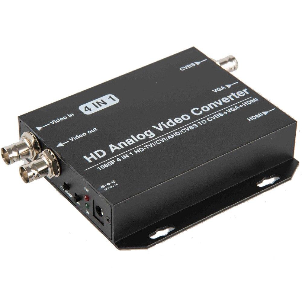 720P 1080P AHD Camera CVI Camera TVI Camera to HDMI VGA CVBS Video Converter for CCTV Camera Support AHD CVI TVI CVB Loop Output