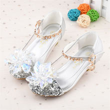 2019 spring and autumn new  children's crystal shoes Cinderella Princess shoes  girls shoes 26-37 цены