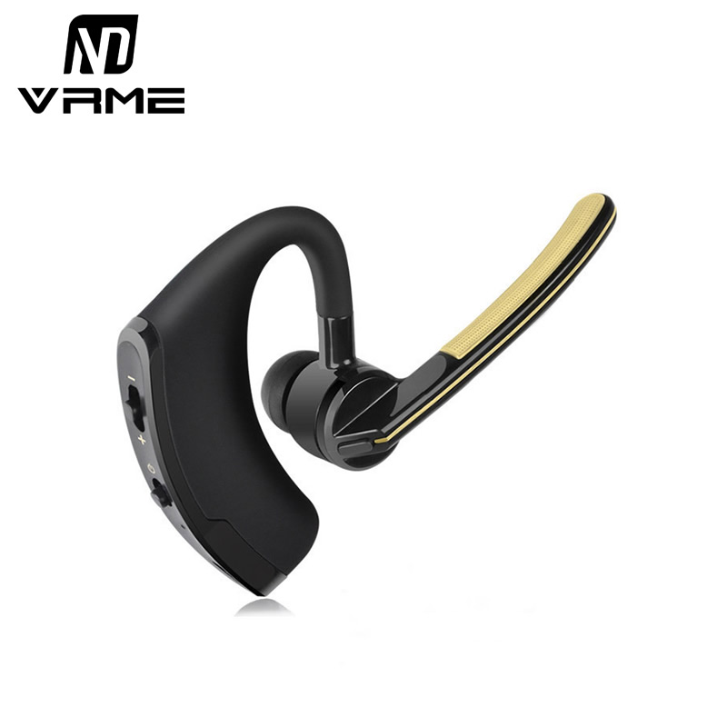 vrme bluetooth headset wireless headphones business style earphones with microphone stereo bass. Black Bedroom Furniture Sets. Home Design Ideas