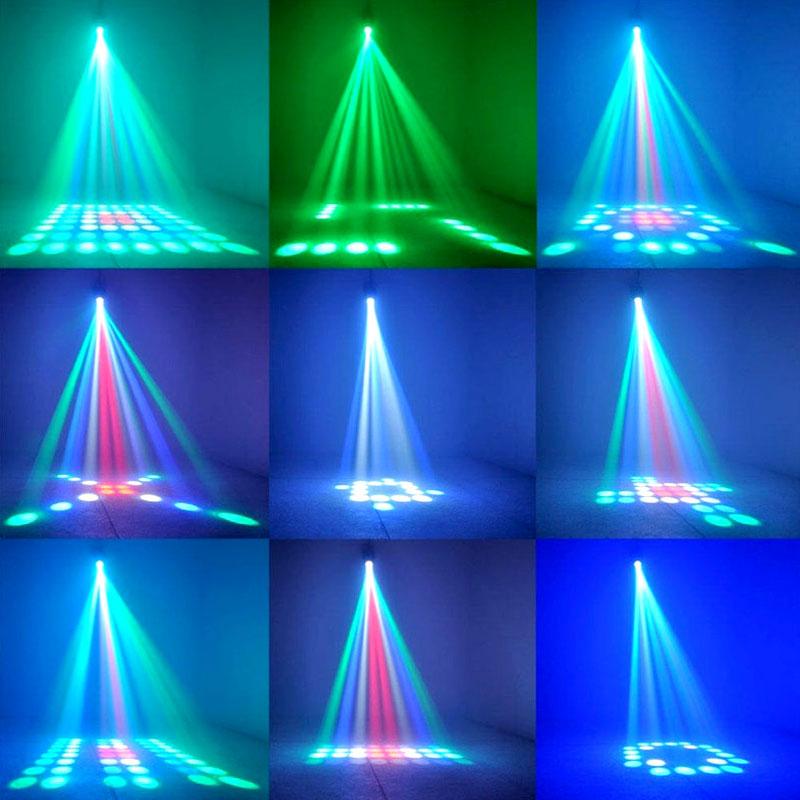 TRANSCTEGO Ljudbelysning DJ Disco Light Led Laser Lamp Mönster Party - Kommersiell belysning - Foto 4