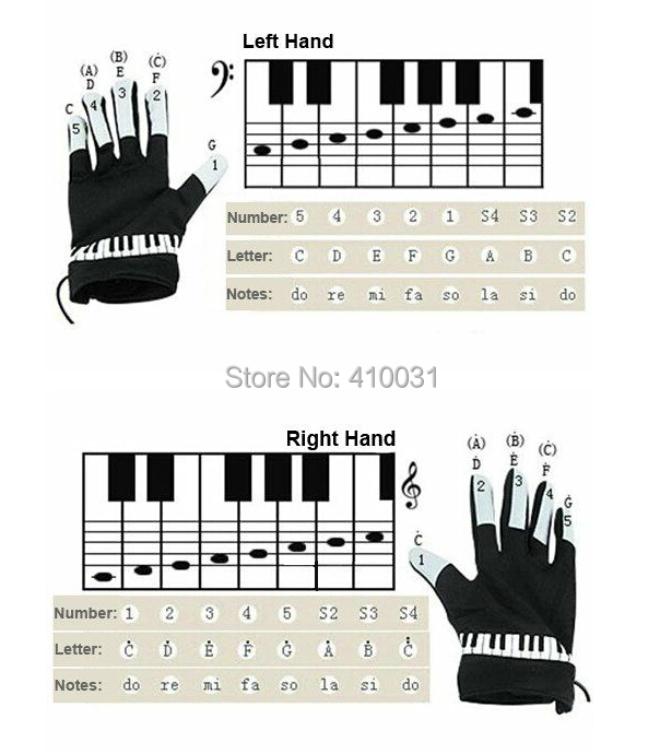 musical piano glove novelty gift electric educational toy for kid child children funny fingertips gadget office game set gimmick in toy musical instrument