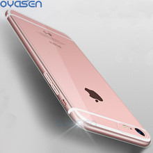 Фотография Silicone Clear Cover Cases For iPhone 5 5S 6 6S 7 8 Plus X Soft TPU Ultrathin Transparent Protective Phone Back Shell Coque Capa