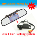 2 em 1 Auto sistema de estacionamento para OPEL Astra H / Corsa D / Meriva A / Vectra C / Zafira B CCD Car Rear View Camera + HD espelho retrovisor do carro
