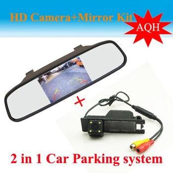 2 in 1 Auto parking Systeem voor OPEL Astra H/Corsa D/Meriva/Vectra C/ zafira B CCD Auto Achteruitrijcamera + HD Auto achteruitkijkspiegel