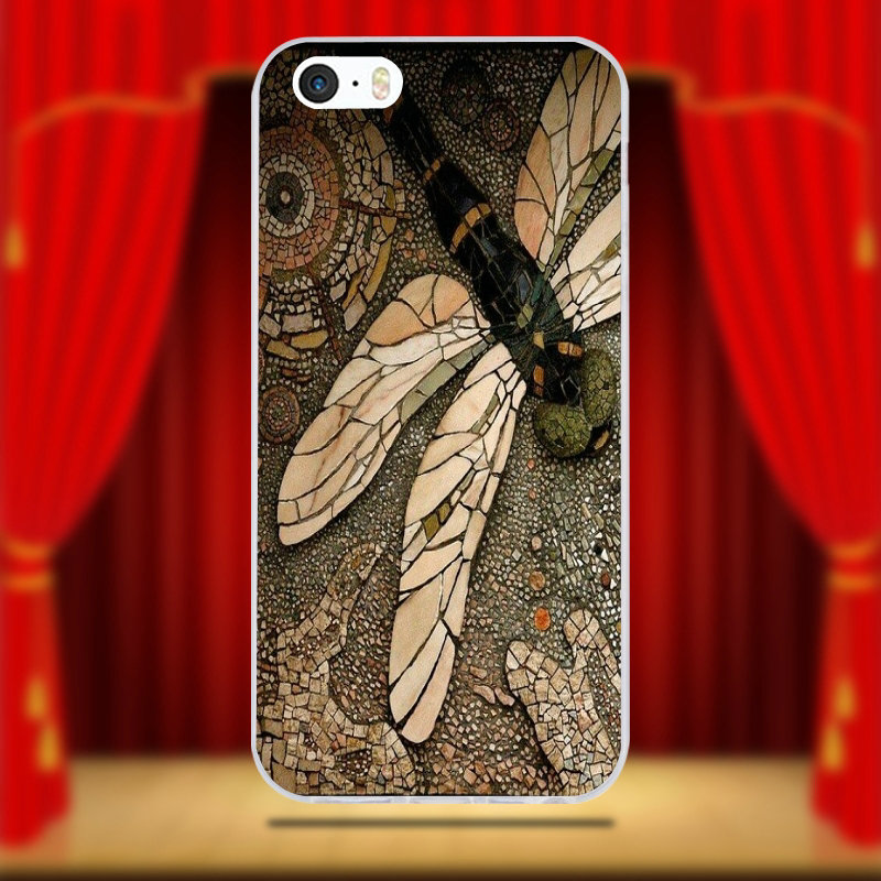 US $1 49 |Soft TPU Silicon Transparent Phone Cases Cover Design Dragonfly  Zoom Art for iPhone 6 6S 7 8 Plus 4 4S 5 5S 5C SE X Coque Shell-in