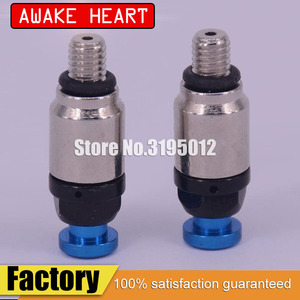M5 Motorcycle Front Fork Bleeder Air Valves For Yamaha YZ85 YZ125 YZ250 YZ250F YZ450F WR250F WR450F Motocross Dirt Bikes Blue(China)